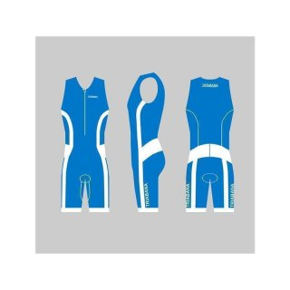Triabana Tricompress Trisuit  Premium Triathlon Einteiler Holidayblau XS
