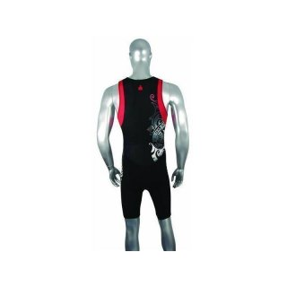 Ironman Triathlon  Einteiler Tattoo  schwarz L